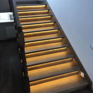 Подсветки лестницы в Петергофе