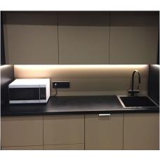 Светодиодная подсветка для кухни 1м, 220В, светильник на кухню, готовый комплект подсветки под шкафы на зону кухни