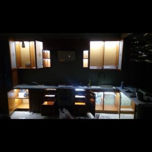 Подсветка шкафов кухни на ул.Глухарской
