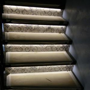 Подсветка лестницы в Сярьгах