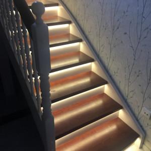 Подсветка лестницы в СНТ Ягодка