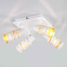 Белый потолочный светильник спот с поворотными плафонами цоколь Е14 IP20