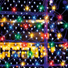 Новогодняя гирлянда-сеть мульти 1,5*1,5 м - купить