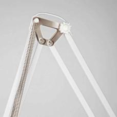 Белый напольный светильник торшер в стиле лофт с белым плафоном IP20